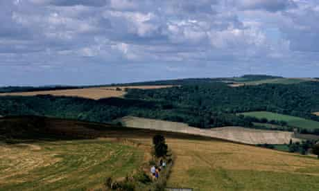 Walkers make their way down the South Downs Way