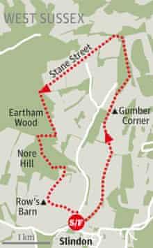 Slindon Estate walk graphic