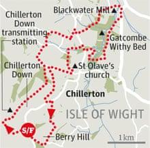 Chillerton down walk graphic