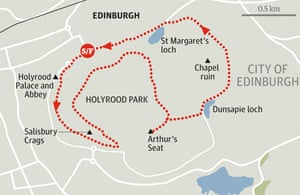 Holyrood Park, Salisbury Crags and Arthur's Seat walk graphic