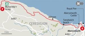 Aberystwyth, Ceredigion walk graphic