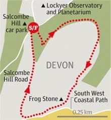 Salcombe Hill, Devon walk graphic