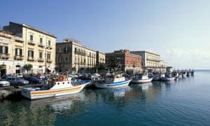 Boats and city, Ortigia, Sicily