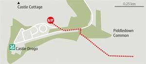 Teign Valley, Devon walk graphic