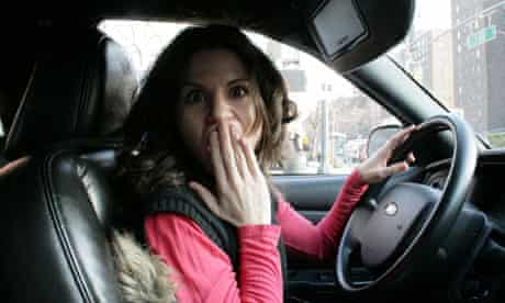 Layne Mosler in her cab in New York