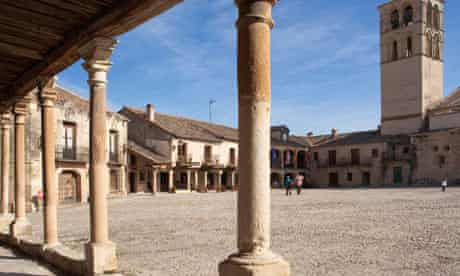 The main square of Pedraza, Spain
