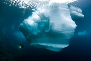 Travel Photo of Year: Iceberg in this Alpine lake. Switzerland