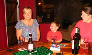Jade and her son Edward, who were staying in the village, and Erron, co-owner of Conroy's.