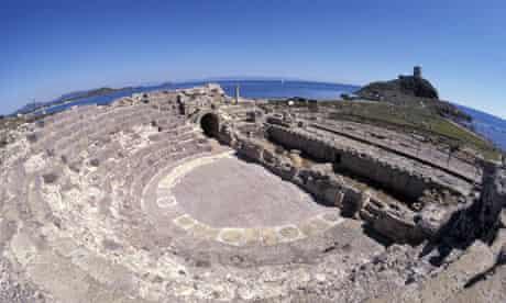 Roman ruins at Pula