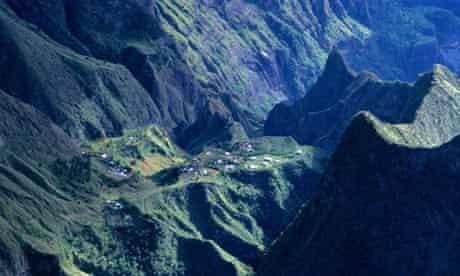 Réunion Island in the Indian Ocean