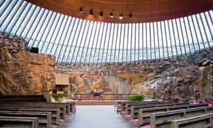 The interior of Temppeliaukio, the Church in the Rock.
