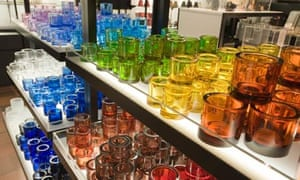 Colourful glasses on sale at littala