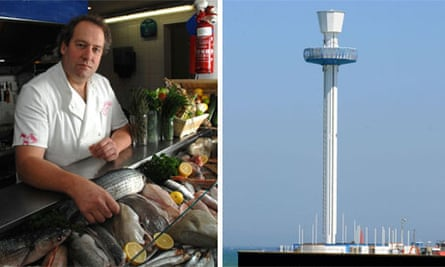 Catch of the day at the Crab House Café and the Weymouth Sea Life Tower