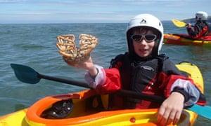 kayak foraging, pembrokeshire