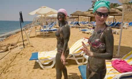 Mud bath at the Dead Sea in Jordan
