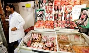 Billingsgate fish market, London.