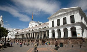 The Presidential Palace in Quito old town, Ecuador