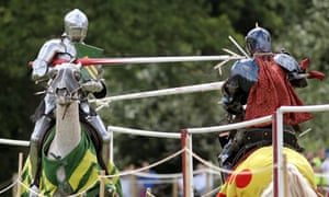 Take that … jousting knights in action