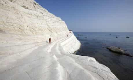 The striking Turkish Steps near Agrigento, Sicily.