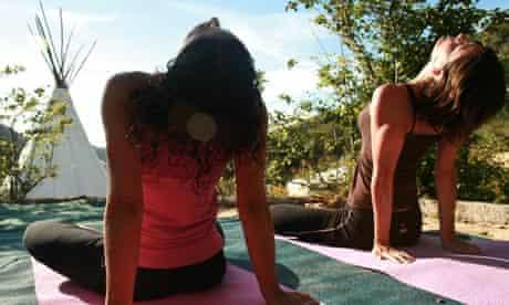 Yoga at Surf Algarve, Portugal
