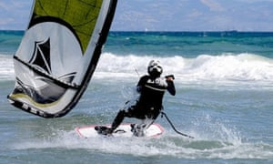 Kitesurfer in Tarifa, Spain