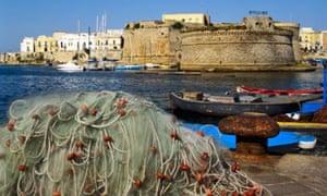 Island-like Gallipoli old town, Puglia, Italy