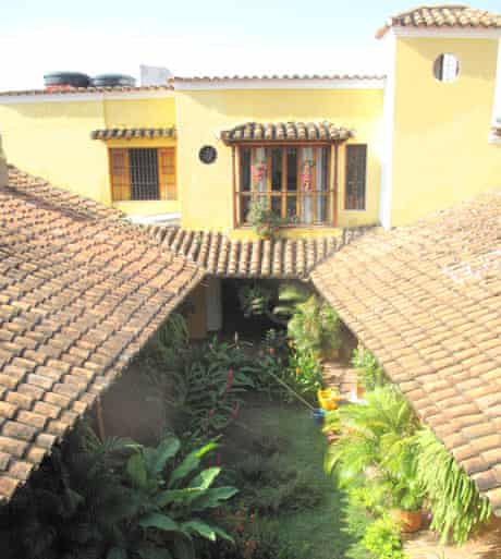 La Casa Amarilla is a restored mansion by the river in the centre of town