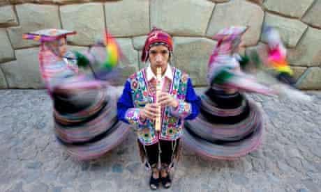 Give us a twirl … traditional dancers in Cusco, Peru