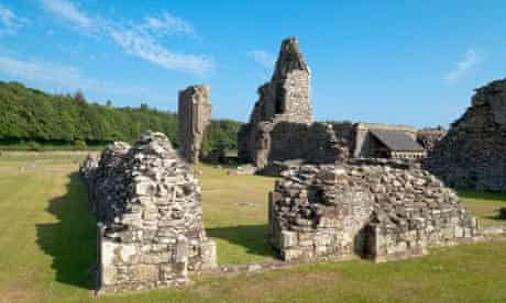 Ruins of Glenluce Abbey near Stranraer Galloway