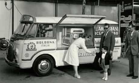 Historic photo from the Carpigiani ice-cream museum, Italy