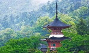 Top of a Pagoda, Itsukushima, Japan
