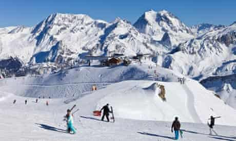 Skiing, the Three Valleys, France