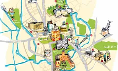 Locals guide to Oxford map