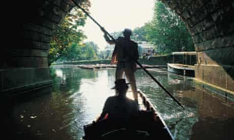 Punting under Magdalen Bridge, Oxford