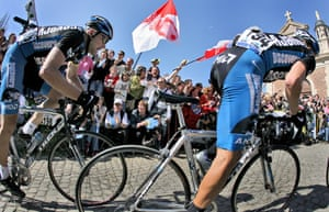 The Tour of Flanders cycling race.