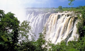 Victoria Falls from the Zimbabwe side.