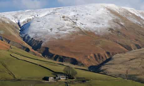 The Howgills spread across Cumbria, Lancashire and Yorkshire.