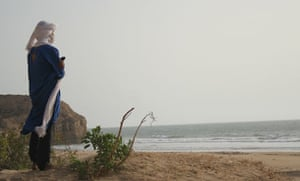 One of the group's Tuareg guides looks out to sea
