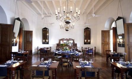Inside the Amangalla Hotel in Sri Lanka