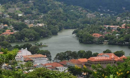 The centre of Kandy.
