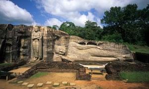 Body beautiful … discover a reclining Buddha in Sri Lanka.
