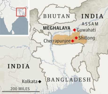 Meghalaya map
