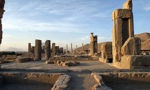 Ruins around the Apadana Palace in Persepolis