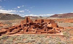 Wupatki ancien ruins in Arizona