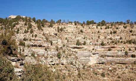 Cliff dwellings at Walnut Canyon, Arizona