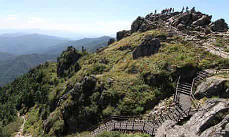 The summit of Cheonwangbong, part of the Baekdu Daegan range. Photograph: Daniel Adamson