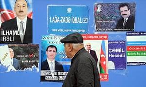Election posters in Baku, Azerbaijan
