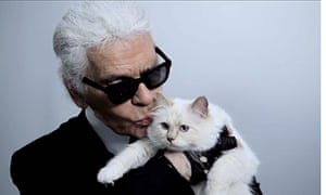 Karl Lagerfeld and his cat Choupette