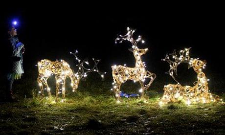 best christmas light displays in the uk travel the guardian - Deer Christmas Lights