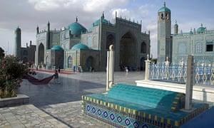 Blue Mosque in Mazar-i-Sharif, Afghanistan